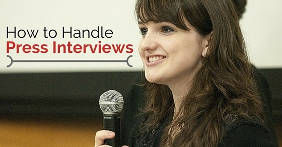 how handle press interviews