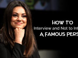 how interview famous person