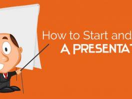 how start end presentation