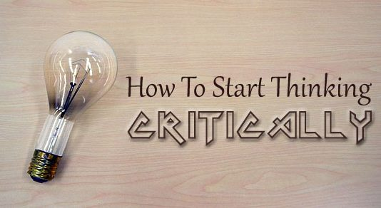 how start thinking critically