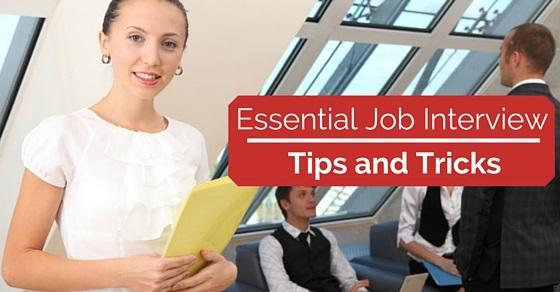 job interview tips tricks
