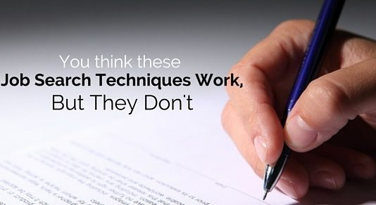 job search techniques work