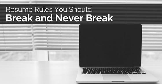 resume rules you break
