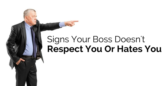 signs boss hates you