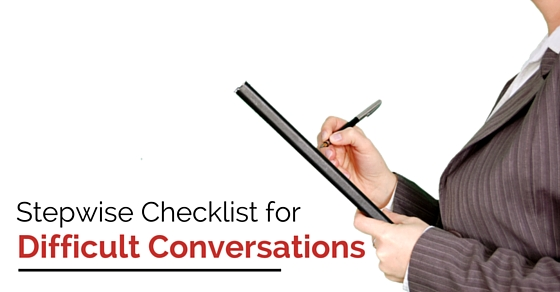 stepwise checklist for conversations