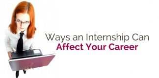 ways internship affects career