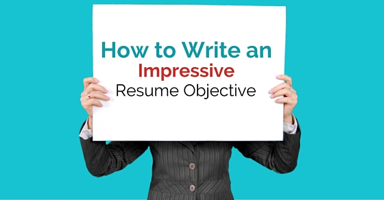 write impressive resume objective