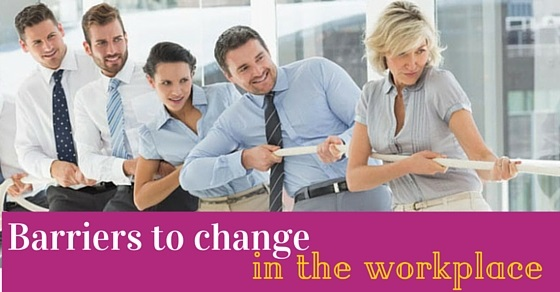 barriers change in workplace