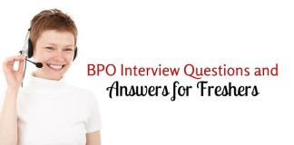 bpo interview questions freshers