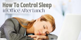 control sleep after lunch