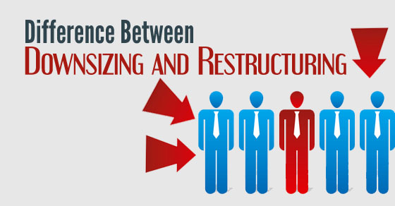 difference between downsizing restructuring