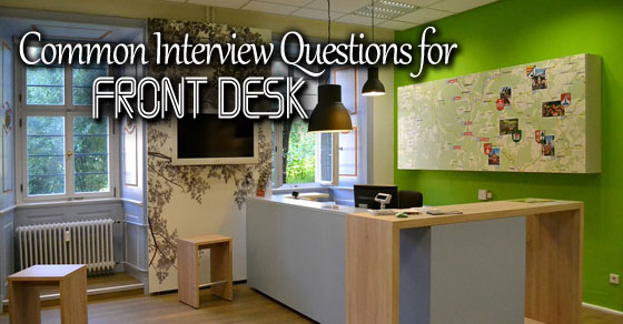 front desk interview questions