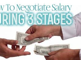 how negotiate salary stages