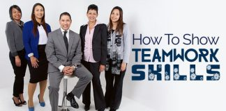 how show teamwork skills