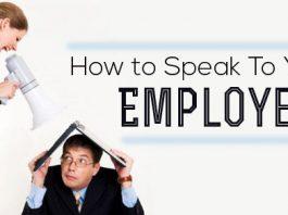 how speak to employees