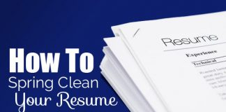 how spring clean resume