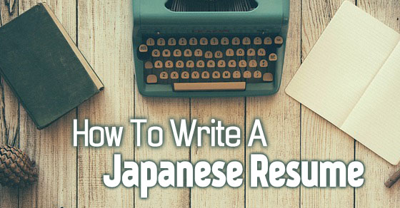 how write japanese resume