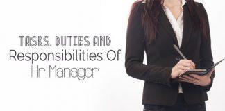 hr manager tasks duties