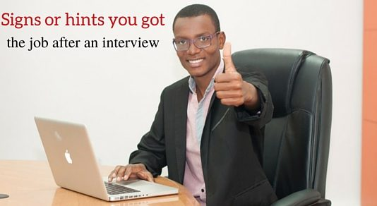 job after an interview