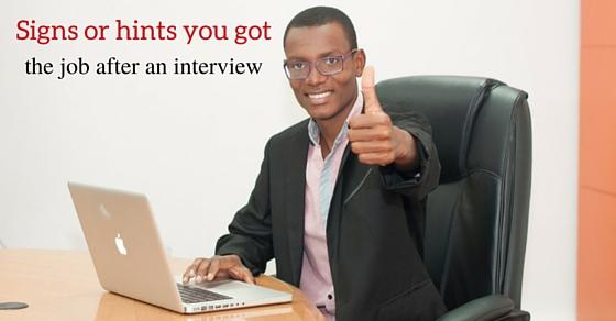 job after an interview