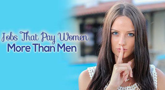 jobs pay women more