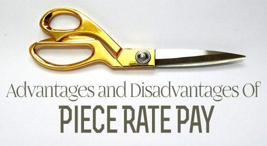 piece rate pay advantages