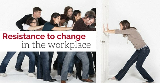 resistance to change in the workplace Organizational change and dealing with employees' resistance one of the biggest challenges in implementing change is to cope up with the resistance that evolves during incorporation of change in organizations.
