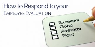 respond to employee evaluation