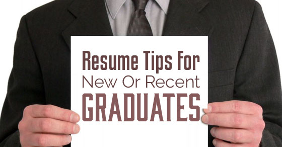 resume tips new graduates