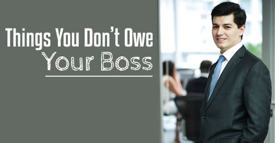 things dont owe boss