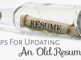 updating old resume tips
