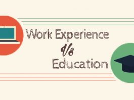 work experience vs education