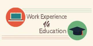 work experience vs education