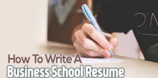 write business school resume