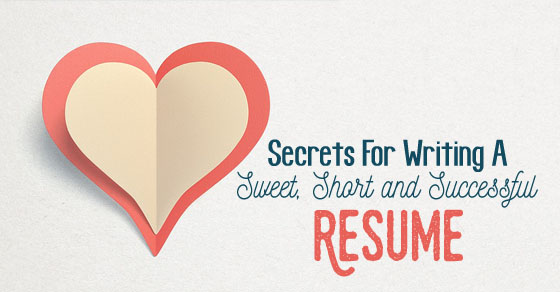 writing sweet short resume