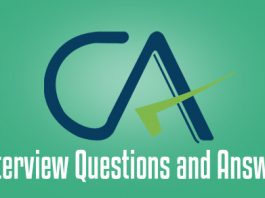 ca interview questions answers