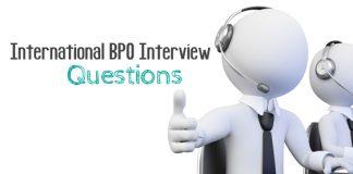 international bpo interview questions