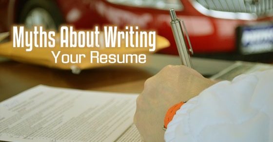 myths about writing resume
