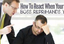 react when boss reprimands
