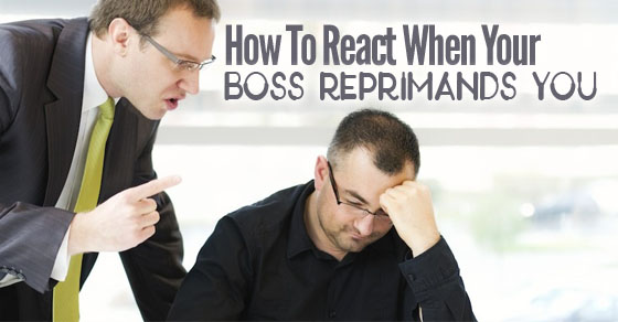 react when boss reprimands