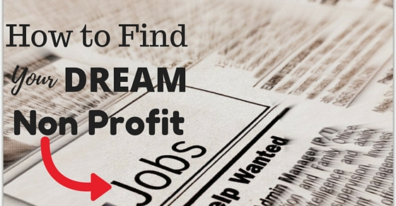 finding non profit jobs
