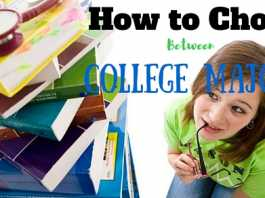 how to choose college majors