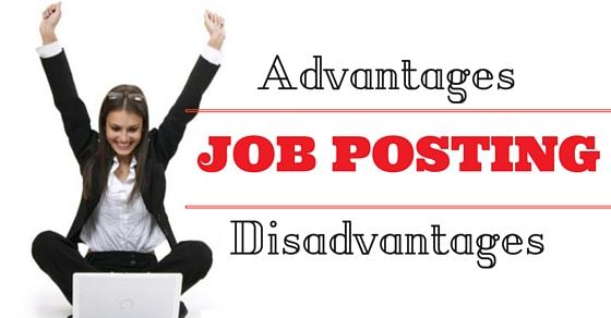 Job Posting Advantages Disadvantages