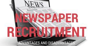 Newspaper Recruitment Advantages Disadvantages