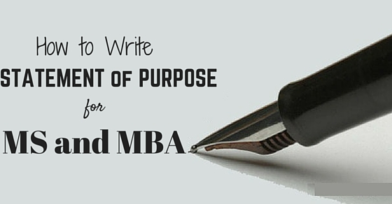 tips for writing a statement of purpose