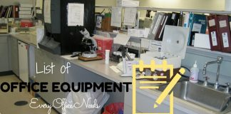 office machines and equipment list
