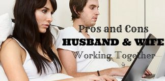 Husband and Wife Working Together