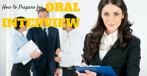 Oral Interview Tips Techniques