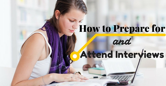 Prepare Attend Interviews Tips