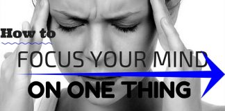 Focus Mind on One Thing